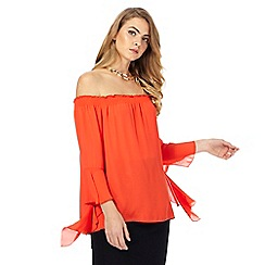 Star by Julien Macdonald - Dark orange flared sleeve top