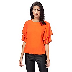 Star by Julien Macdonald - Orange ruffle sleeve top