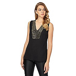 Star by Julien Macdonald - Black V-neck top
