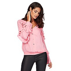 Star by Julien Macdonald - Pink ruffle sleeves blouse
