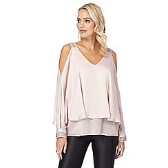 Star by Julien Macdonald - Pale pink hot fix cape top