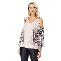 Star by Julien Macdonald - Pink ombre effect animal print cape top