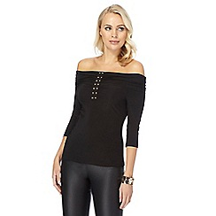 Star by Julien Macdonald - Black jersey hotfix Bardot top
