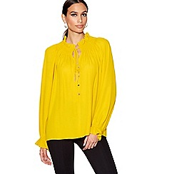 Star by Julien Macdonald - Yellow shirred neck blouse