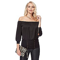 Star by Julien Macdonald - Black corset Bardot top