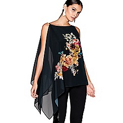 Star by Julien Macdonald - Black floral print layered top