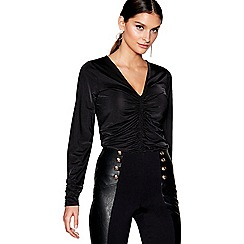 Star by Julien Macdonald - Black long sleeves ruche top