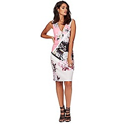 Star by Julien Macdonald - Multi-coloured floral print scuba bodycon dress