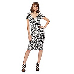 Star by Julien Macdonald - Multi-coloured animal print V-neck wrap dress