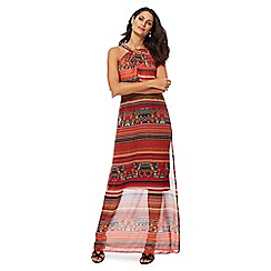 Star by Julien Macdonald - Orange tribal print full length maxi dress