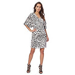 Star by Julien Macdonald - Multi-coloured animal print layered sleeves shift dress