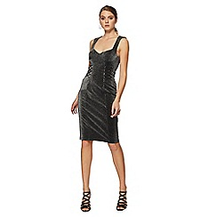 Star by Julien Macdonald - Black metallic knee length dress