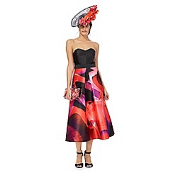 Star by Julien Macdonald - Black bandeau orchid print dress