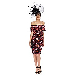 Star by Julien Macdonald - Black floral Bardot dress