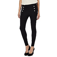 Star by Julien Macdonald - Black button detail trousers