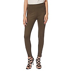 Star by Julien Macdonald - Khaki lace hem leggings