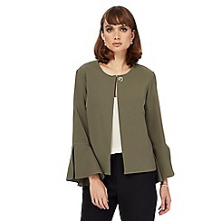 Star by Julien Macdonald - Khaki flared sleeves cropped jacket