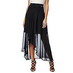 Star by Julien Macdonald - Black chiffon asymmetrical maxi skirt