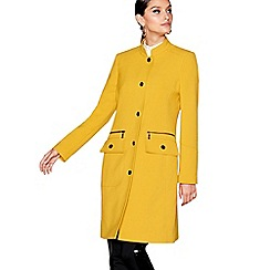 Star by Julien Macdonald - Yellow longline popper trim coat