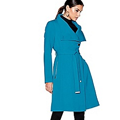Star by Julien Macdonald - Dark turquoise funnel neck trench coat