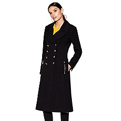 Star by Julien Macdonald - Black longline military coat