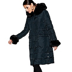 Star by Julien Macdonald - Black longline padded coat