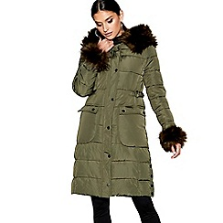 Star by Julien Macdonald - Khaki longline padded coat