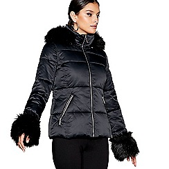 Star by Julien Macdonald - Black high shine puffer jacket