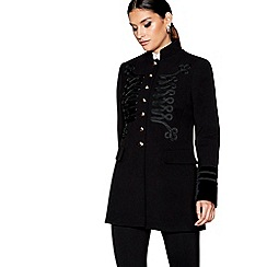 Star by Julien Macdonald - Black velvet military jacket