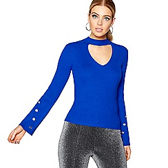 Star by Julien Macdonald - Blue choker neck jumper