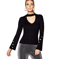 Star by Julien Macdonald - Black choker neck jumper