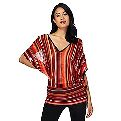 Star by Julien Macdonald - Multi-coloured striped batwing top