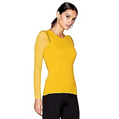 Star by Julien Macdonald - Dark yellow chain shoulder jumper