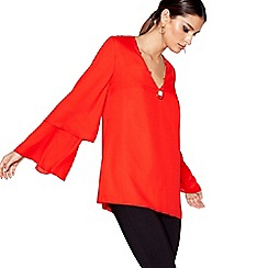 Star by Julien Macdonald - Red long sleeved necklace top