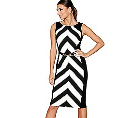 Star by Julien Macdonald - Black chevron print dress
