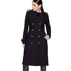Star by Julien Macdonald - Black crepe double breasted coat
