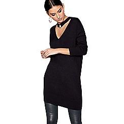 Star by Julien Macdonald - Black long sleeves batwing choker tunic top