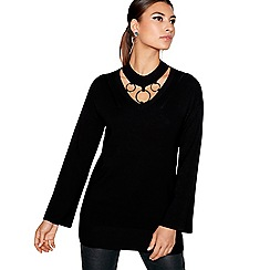 Star by Julien Macdonald - Black three ring choker tunic