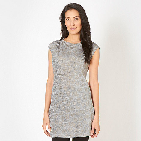 Star by Julien Macdonald - Designer silver metallic pin spot animal tunic