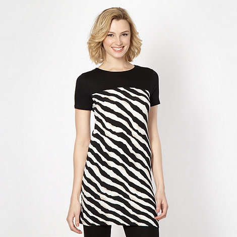 Star by Julien Macdonald - Designer black triple striped tunic top