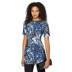 Star by Julien Macdonald - Designer blue camouflage print scuba tunic