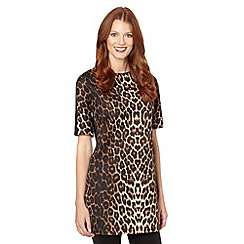 Star by Julien MacDonald - Designer brown leopard print tunic top