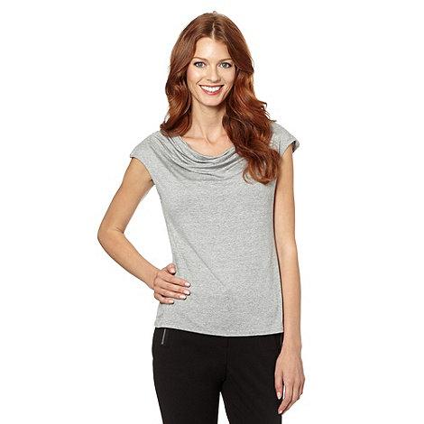 Star by Julien Macdonald - Designer light grey zip shoulder top