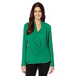 Star by Julien MacDonald - Designer green gathered wrap top
