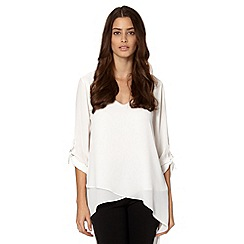 Star by Julien MacDonald - Designer ivory draped top