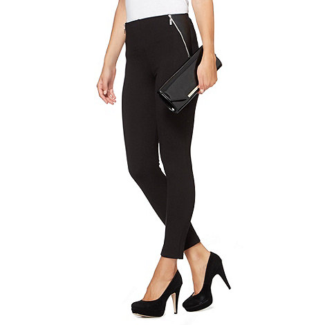 Star by Julien Macdonald - Designer black zipped treggings