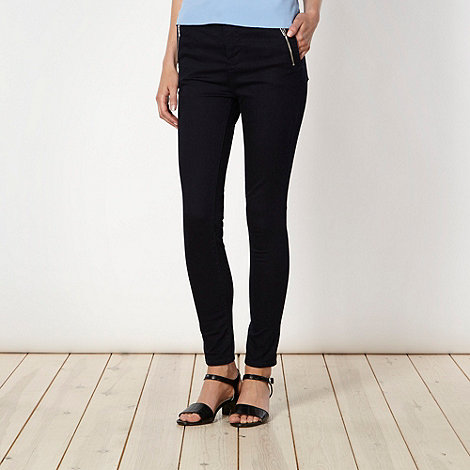 Star by Julien Macdonald - Designer dark blue zip pocket skinny jeans