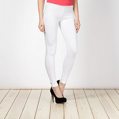 Star by Julien Macdonald - Designer white button cuff leggings