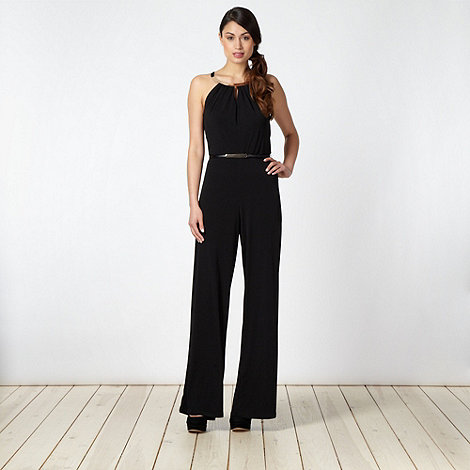 Star by Julien Macdonald - Designer black bar detail jumpsuit