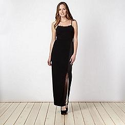 Star by Julien Macdonald - Designer black lace trim camisole maxi dress